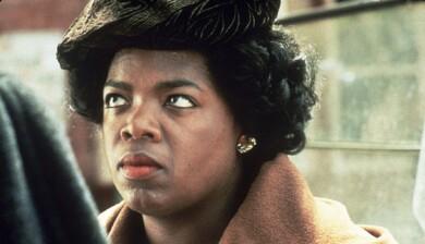 En ung Oprah Winfrey i filmen Purpurfärgen.