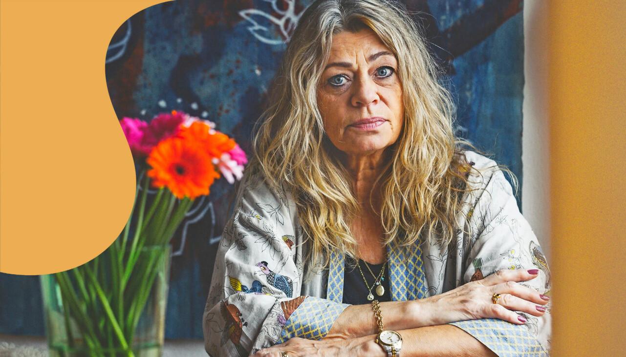 Porträtt av Anna Kløvedal som förlorade sin 15-åriga dotter Emilie i leukemi.