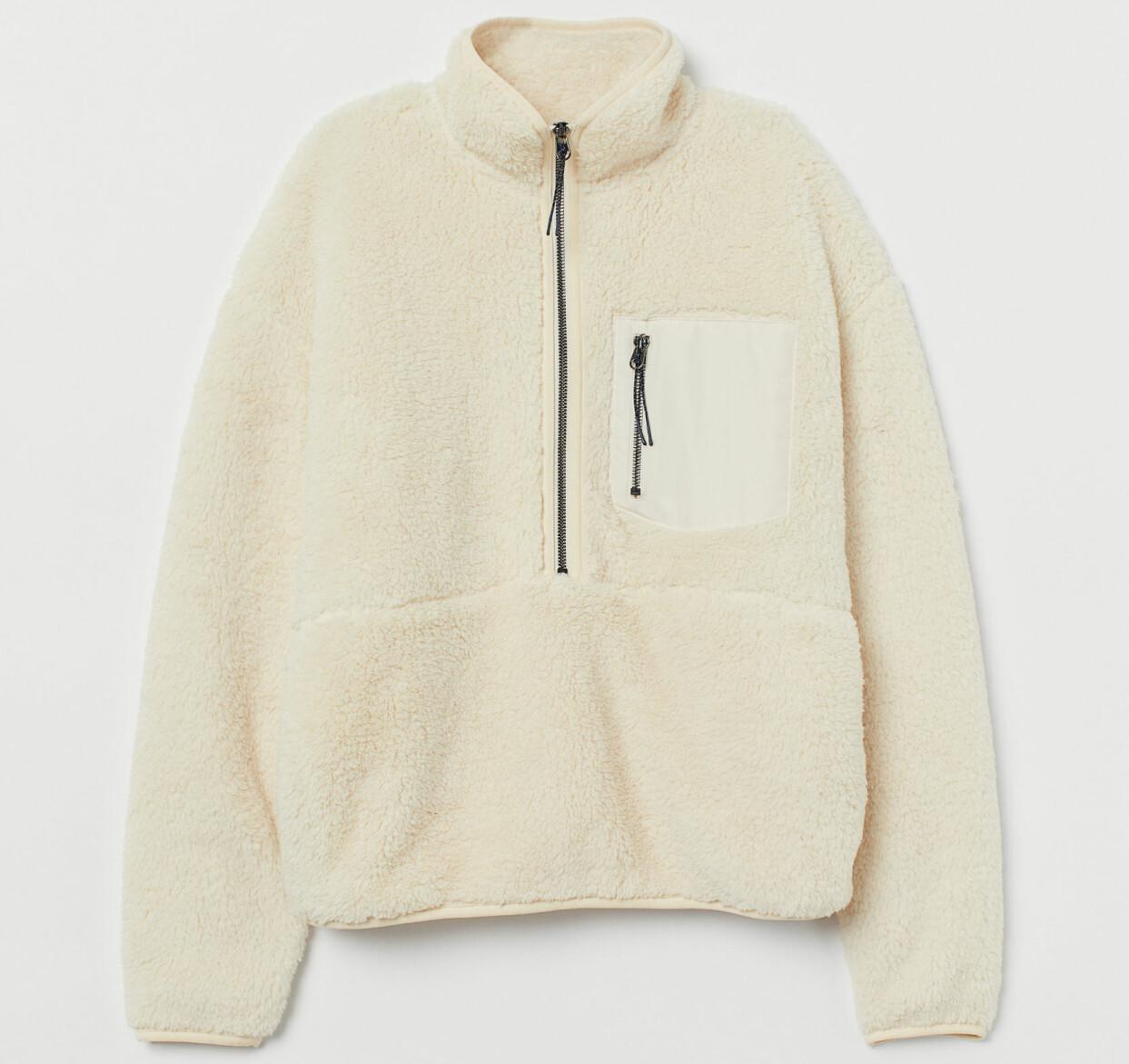 Offwhite jacka pile, från H&M