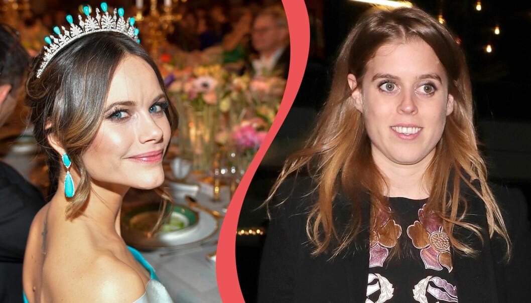 Kollage av prinsessan Sofia och prinsessan Beatrice.