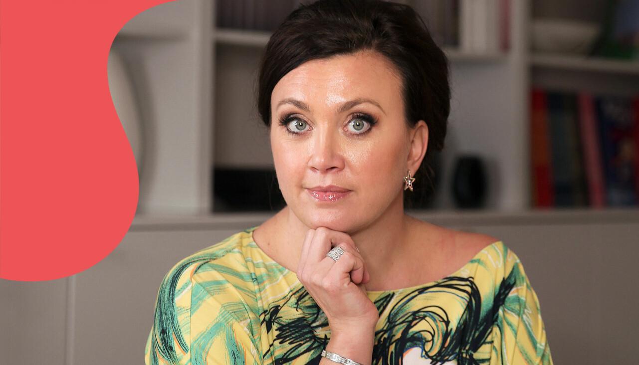 Porträtt av Camilla Läckberg som berättar om relationen till sin vikt.