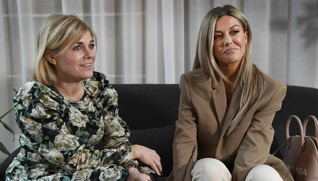 Pernilla Wahlgren och Bianca Ingrosso inför säsongspremiären av Wahlgrens värld.