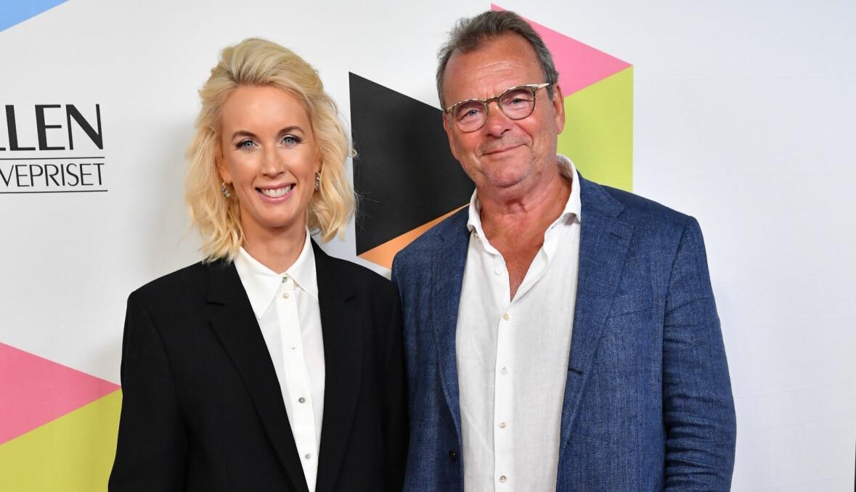 Jenny Strömstedt och Steffo Törnquist på Kristallengalan 2019.