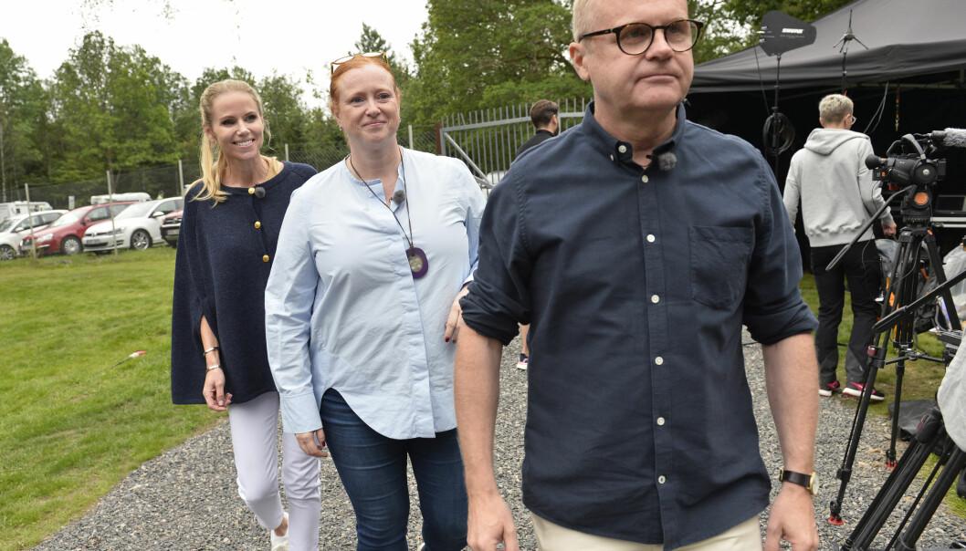 Sofia Rågenklint, Maria Granström och Mats Bergstrand i Auktionssommar på Svt.