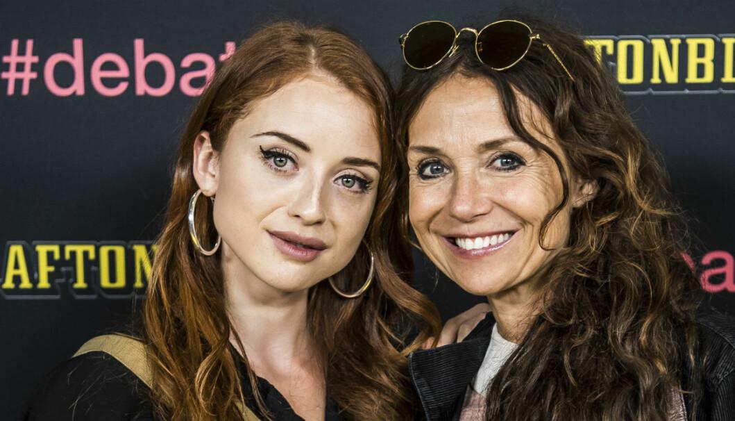 Annika Jankell tillsammans med dottern Happy.
