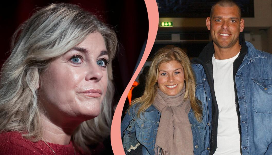 Pernilla Wahlgren och Pernilla Wahlgren tillsammans med ex-pojkvännen Joachim Lennholm.