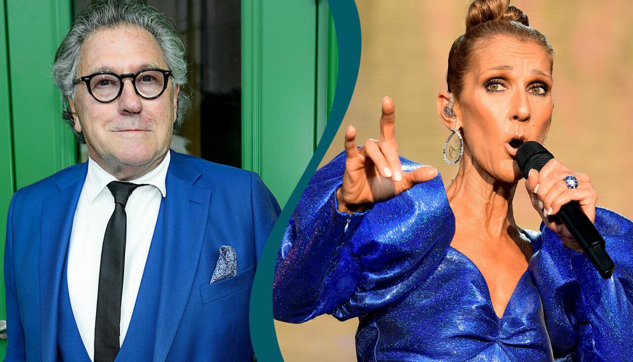 Kollage av artisterna Tommy Körberg och Celine Dion.