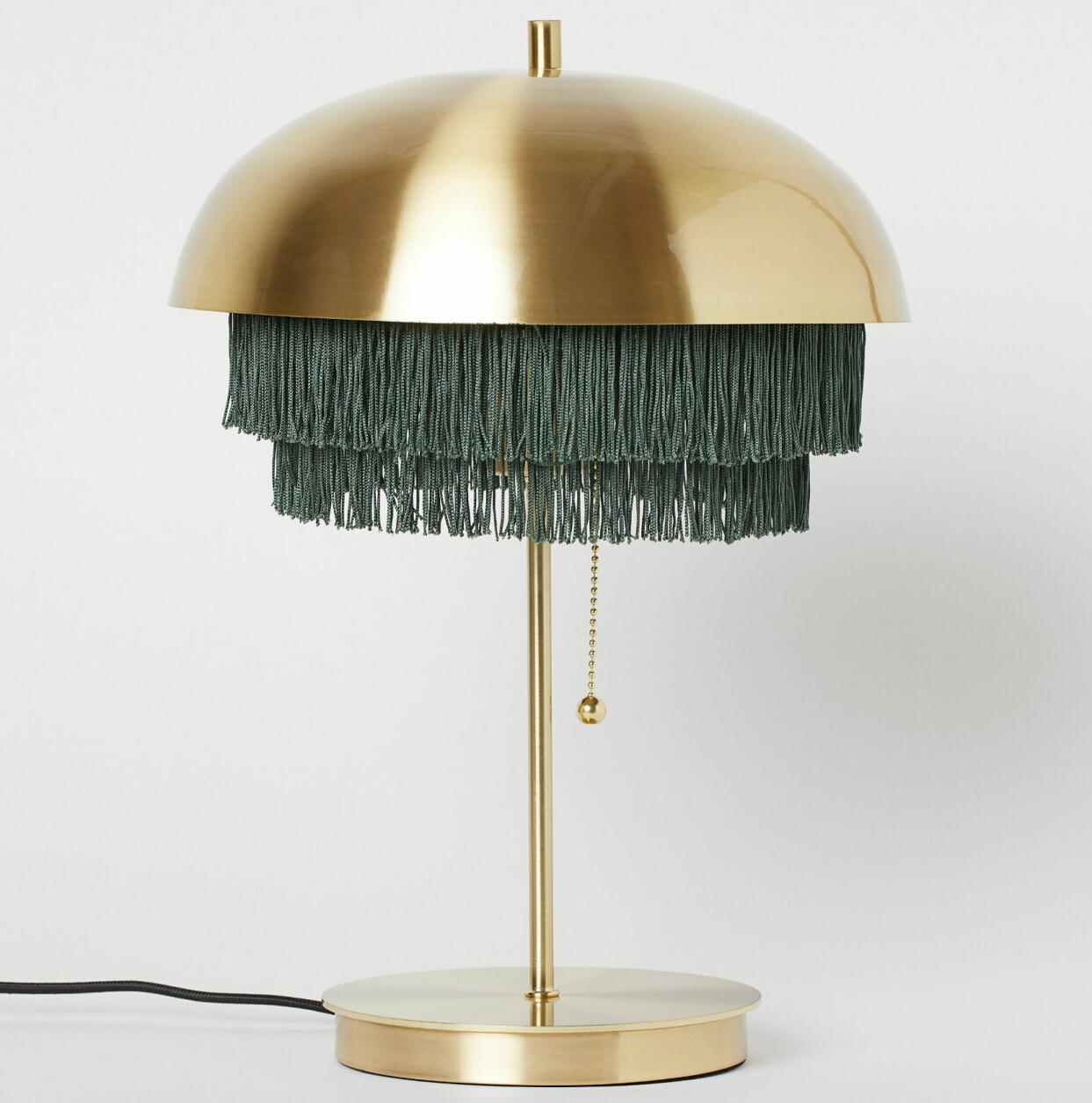 Metallampa med fransar, från H&M Home