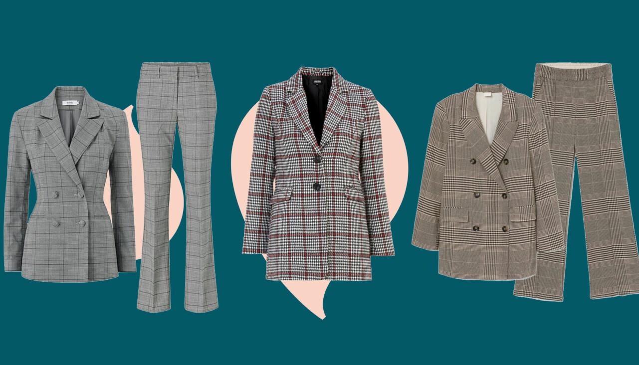 Kollage av tre olika kostymer – i samma stil som en kronprinsessan Victoria syntes i förra veckan.