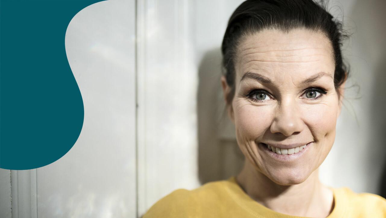 Porträtt av Linda Bengtzing som berättar om Melodifestivalen 2020.