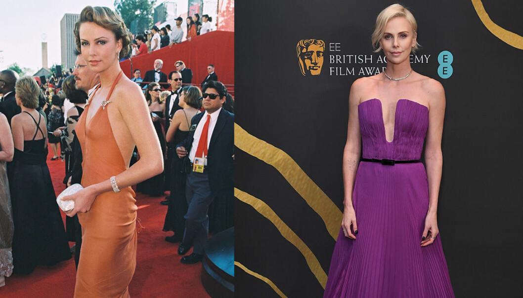 Charlize Theron på Oscarsgalan genom åren.