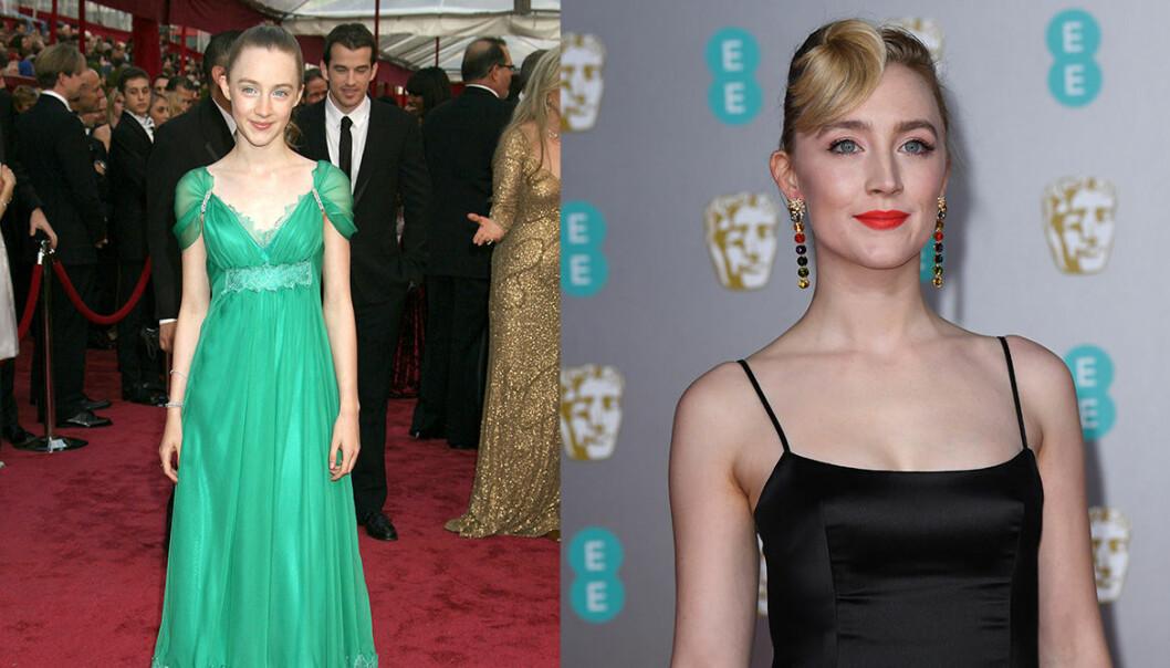 Saoirse Ronan på Oscarsgalan genom åren.
