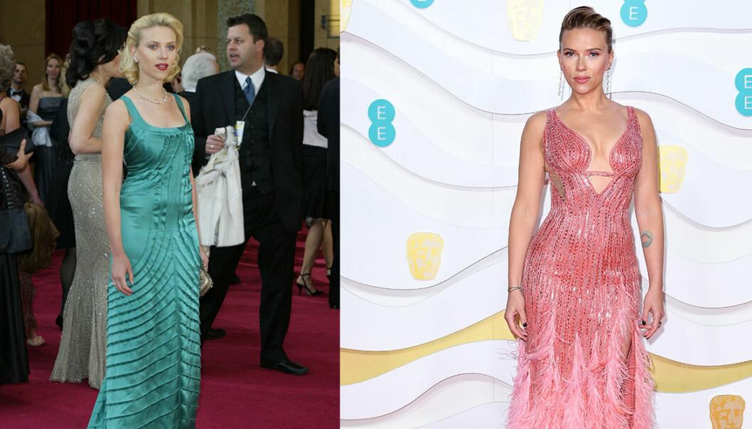 Scarlet Johansson på Oscarsgalan genom åren.