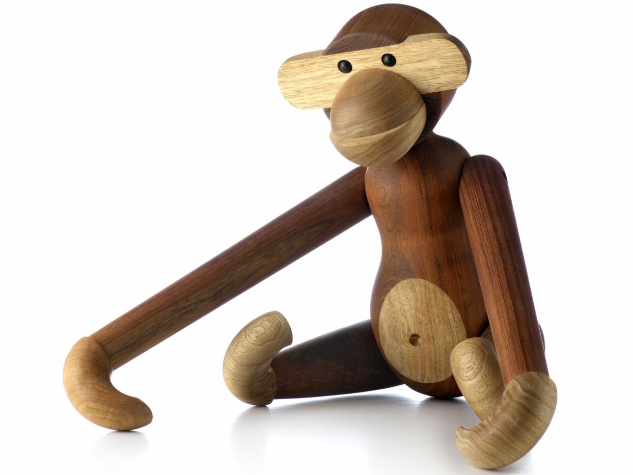 Kay Bojesens ikoniska leksaksapa i trä.