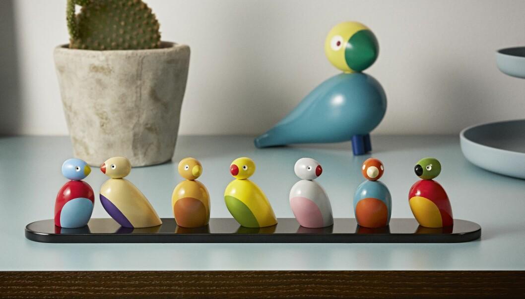 Kay Bojesens småfåglar på bricka.
