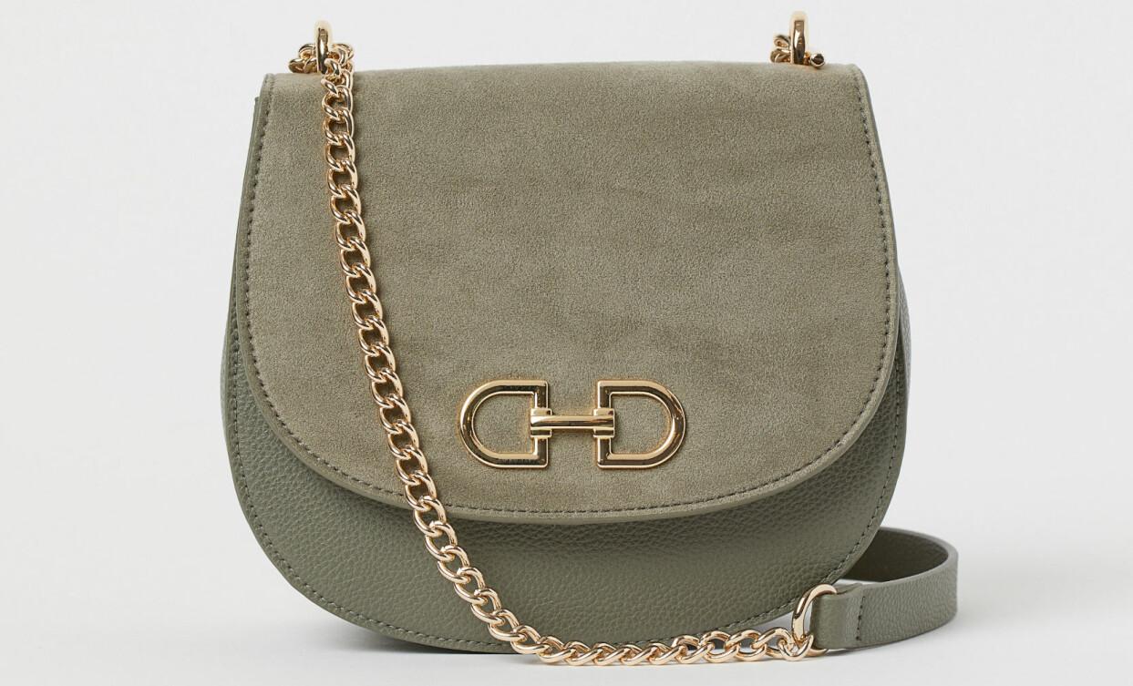 Väska med kedjerem och spänne, från H&M