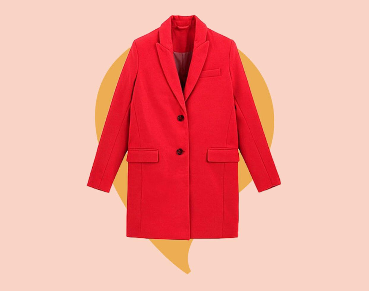 Röd kappa från Ellos.