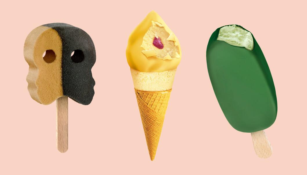 Kollage av glassnyheter från Hemglass 2020.