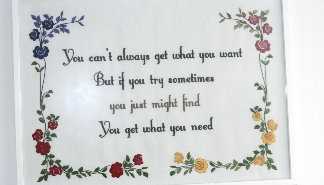 broderat citat från You can't always get what you want