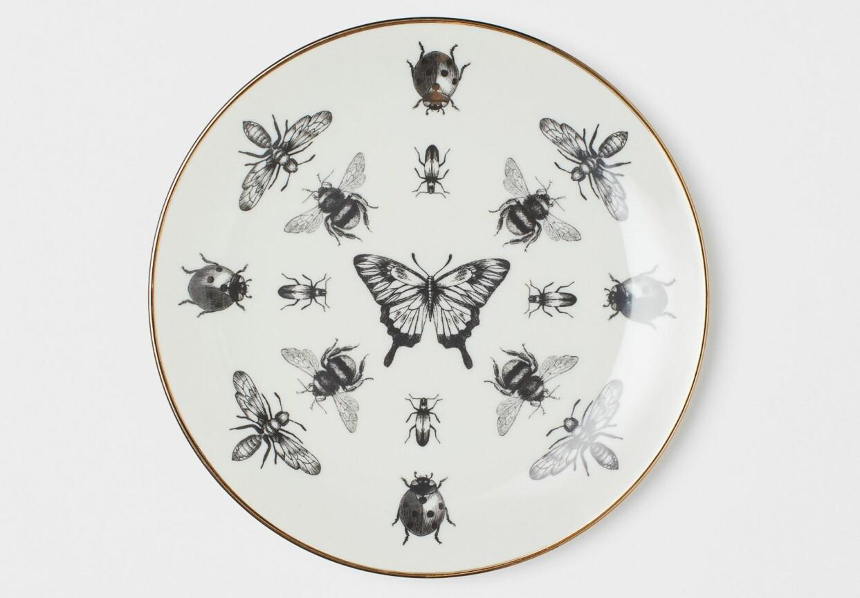 Assiett med insekter från H&M Home