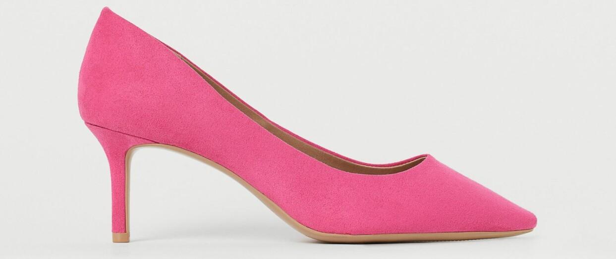Rosa pumps från H&M