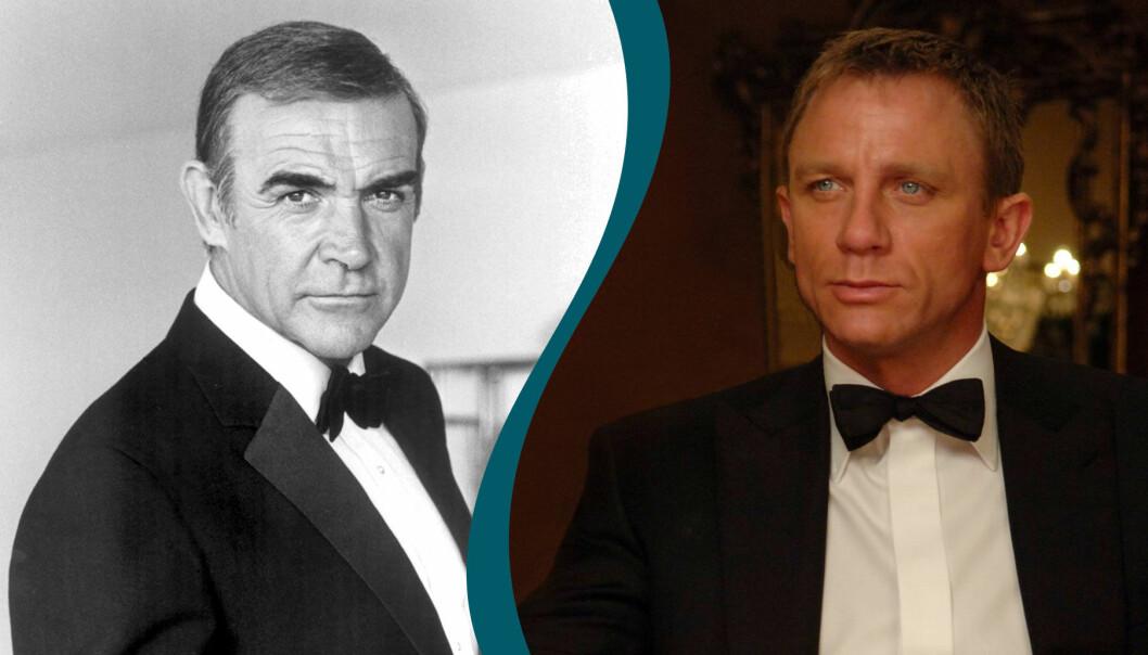 Sean Connery och Daniel Craig som James Bond.