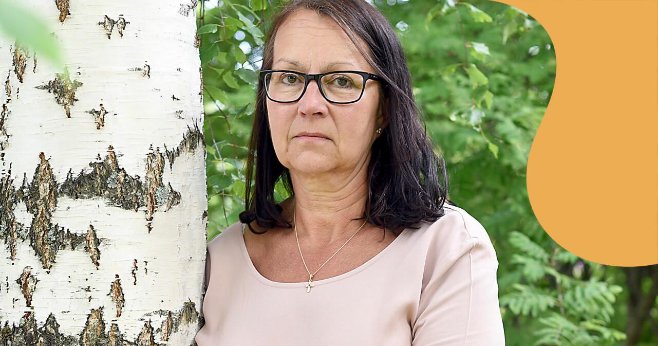 Porträtt av Carina som förlorade två söner på två år.