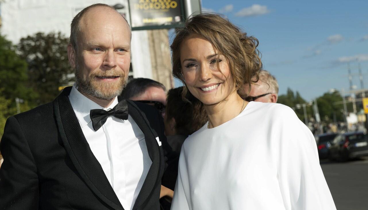 Kristian Luuk och ex-hustrun Carina berg på röda mattan på Polarpriset 2015.