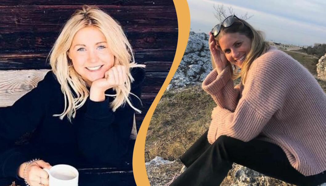 Malin Fors och Ida Malmlöf som hjälper riskgrupper under spridningen av coronaviruset genom en Facebookgrupp.