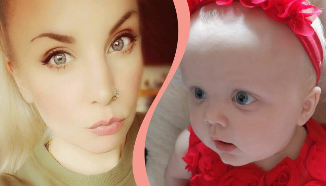 Zelda Eriksson med dotter Hailey Gunnarsson.