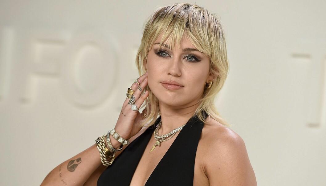 Porträtt av Miley Cyrus.