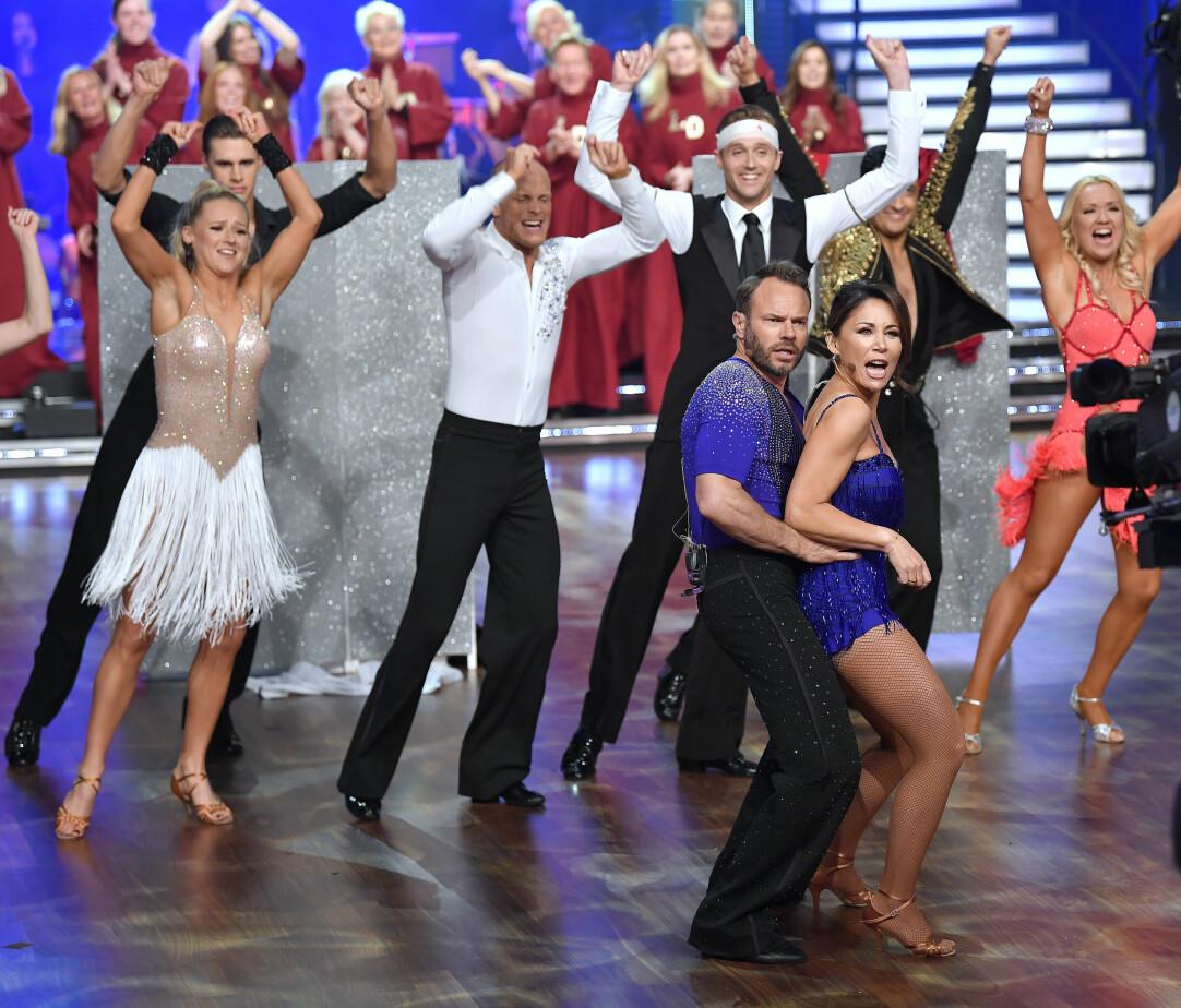 David Hellenius och Tilde de Paula Eby dansar tillsammans i finalen av Let's Dance 2019.