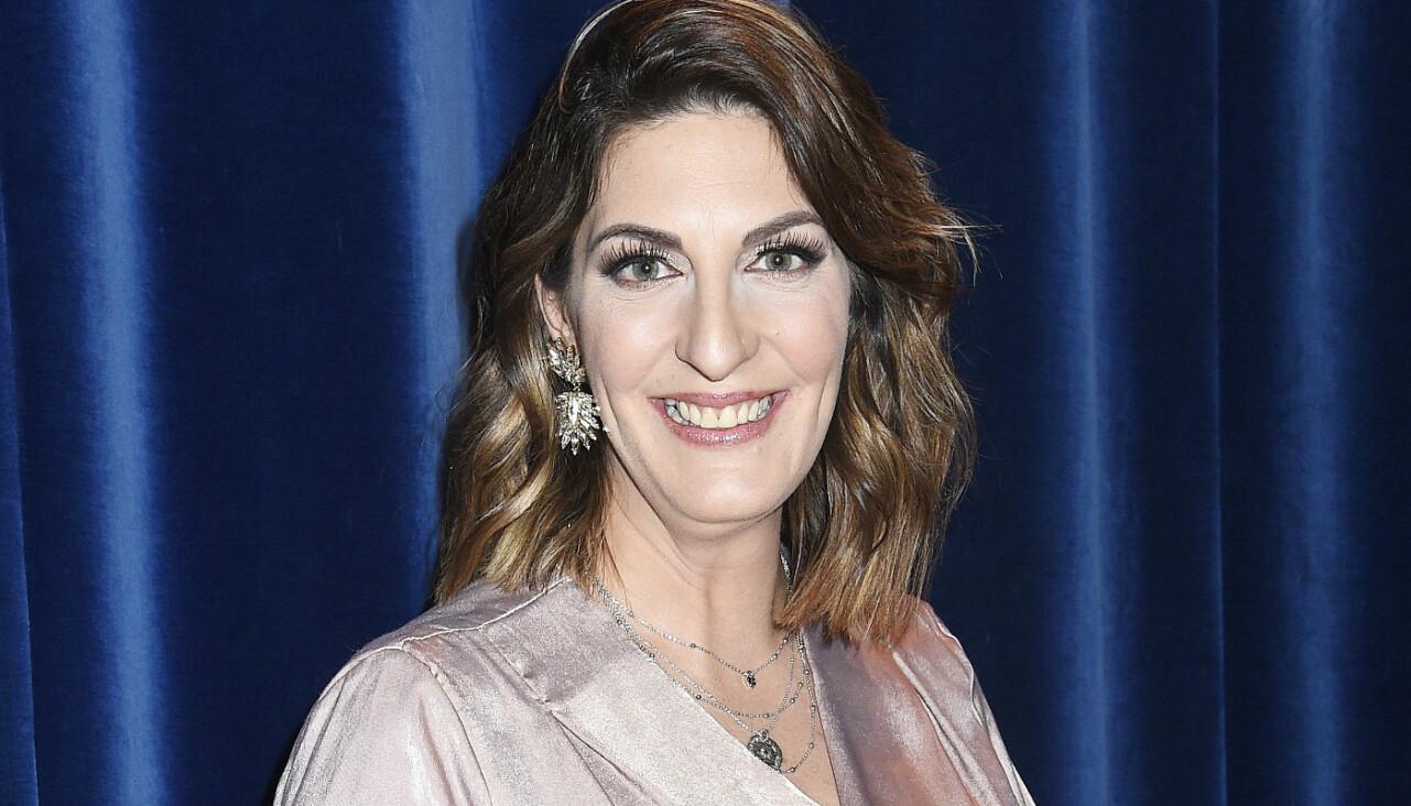 TV4:s Soraya Lavasani på Tillsammans mot cancer-galan 2020.