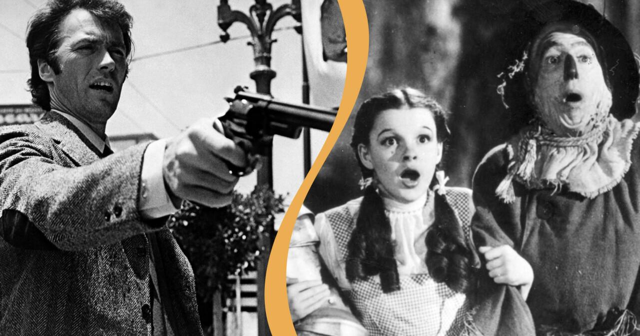 Clint Eastwood och Judy Garland är två skådespelare som fått framföra kända filmcitat.