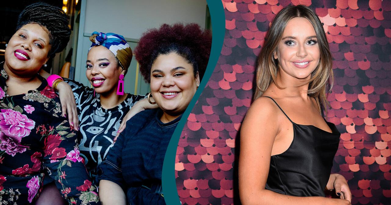 Kollage av The Mamas och Hanna Ferm som alla deltar i Karantänfestivalen den 25 mars 2020.