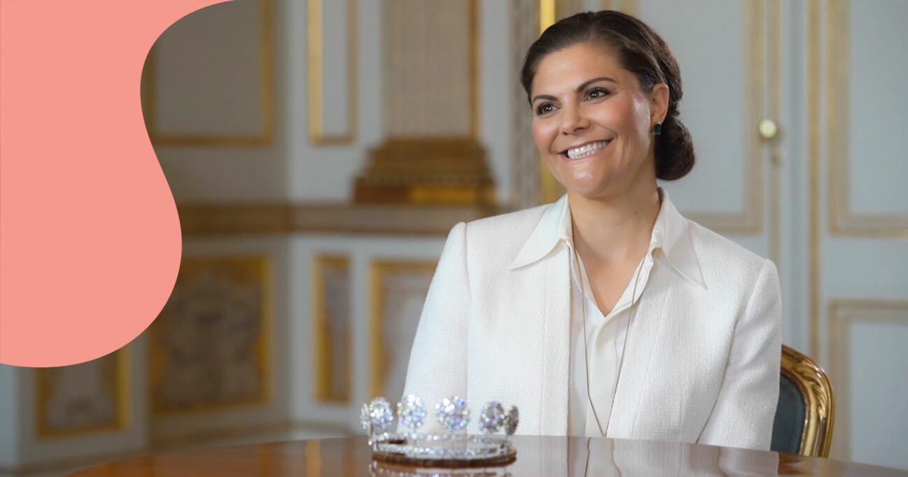 Kronprinsessan Victoria berättar om de kungliga smyckena i Kungliga smycken, en dokumentär från SVT.