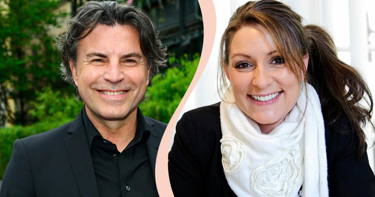 Kollage av Jovan Radomir och Ritza Papaconstantinou som snart är tillbaka som hallåor i SVT igen.