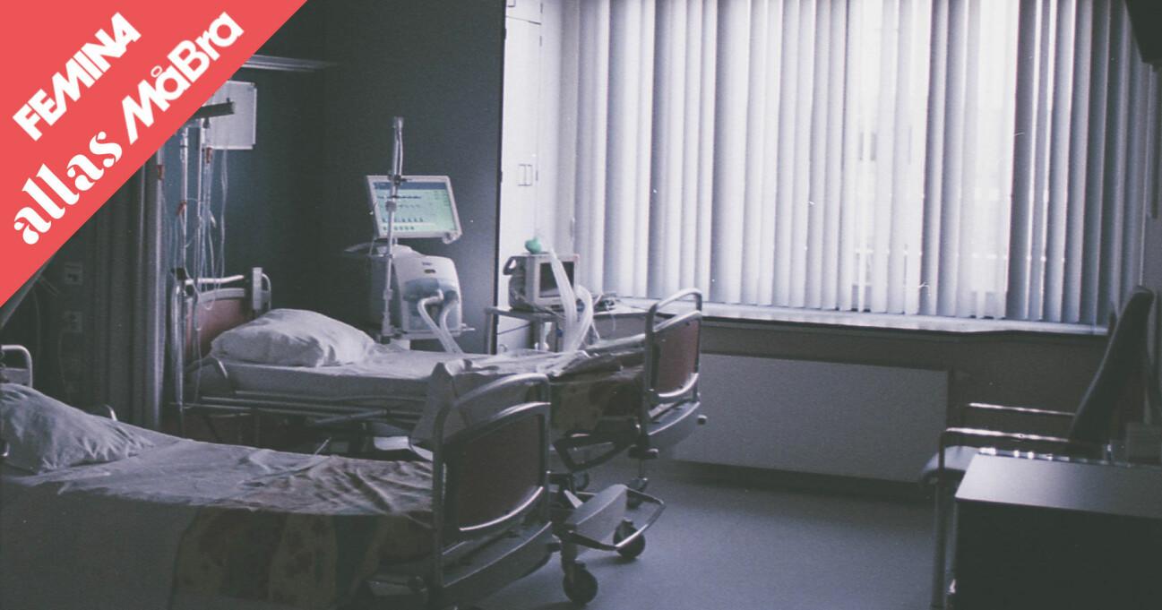 Sjukhussängar som står tomma i coronakrisen.