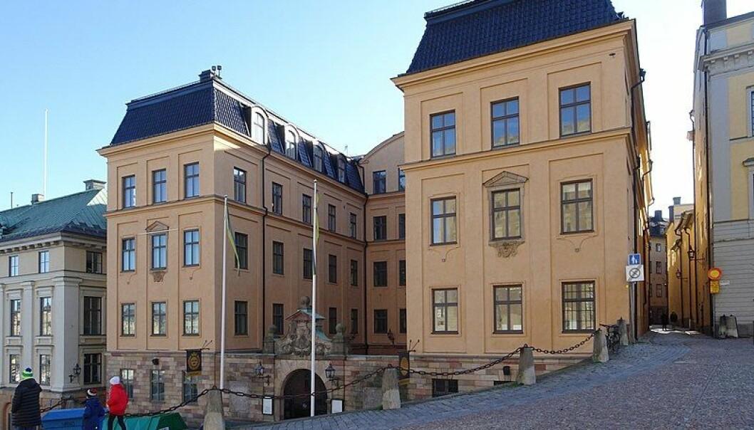Kungliga Myntkabinettet på Slottsbacken i Stockholm