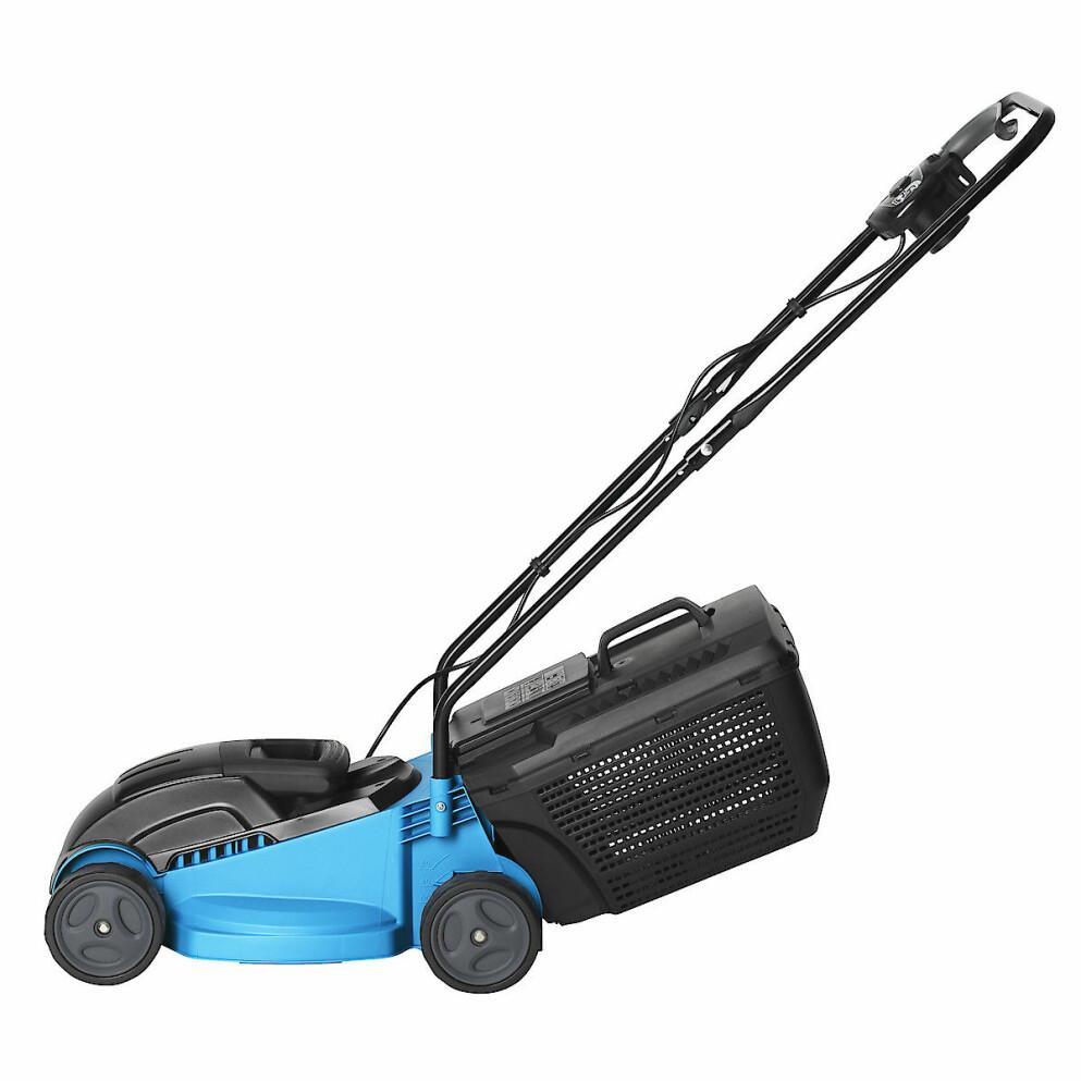 Blå gräsklippare av modell Cocraft LM33