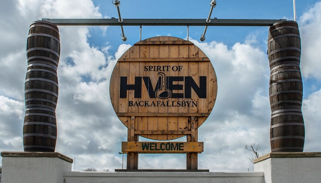 Skylt till Spirit of Hven.