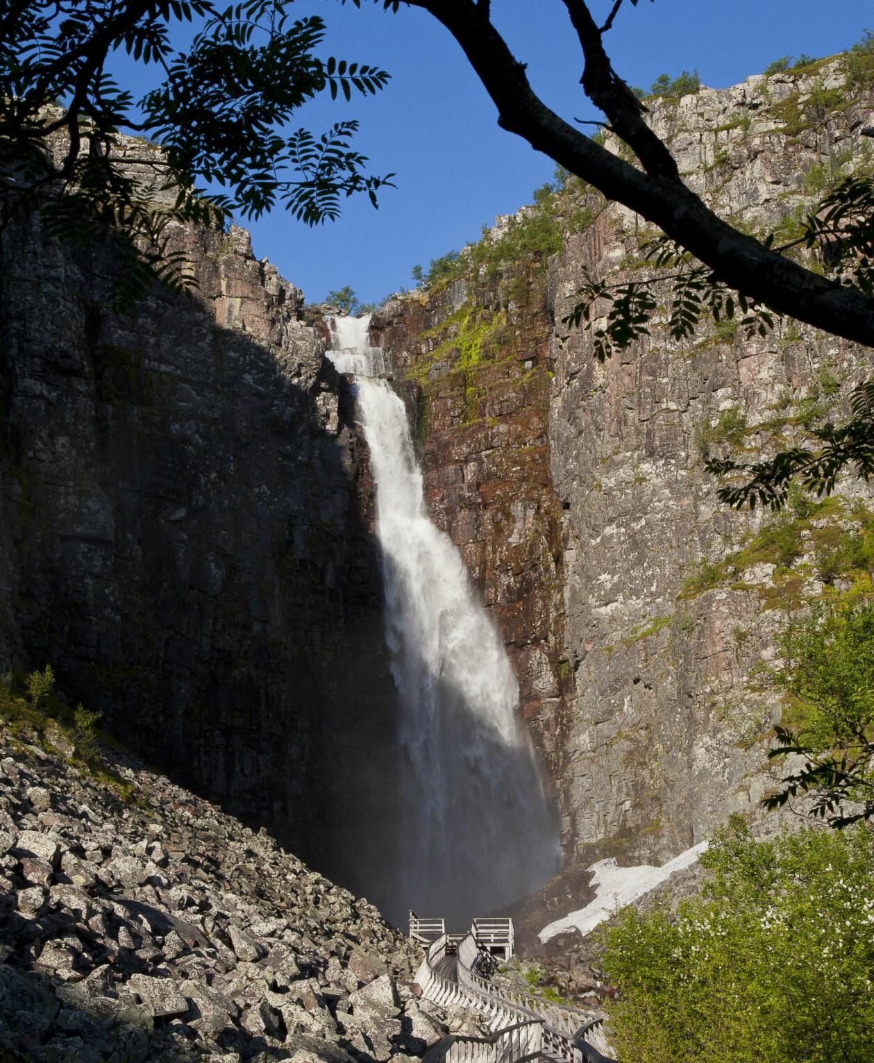 Njupeskär vattenfall.