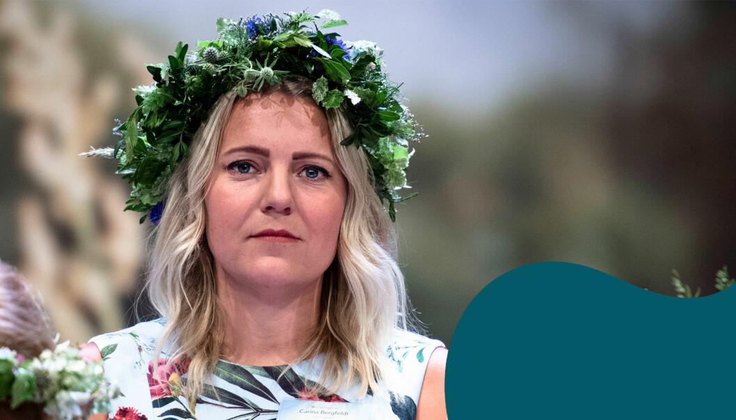 Carina Bergfeldt när hon presenterades som sommarpratare i SR.