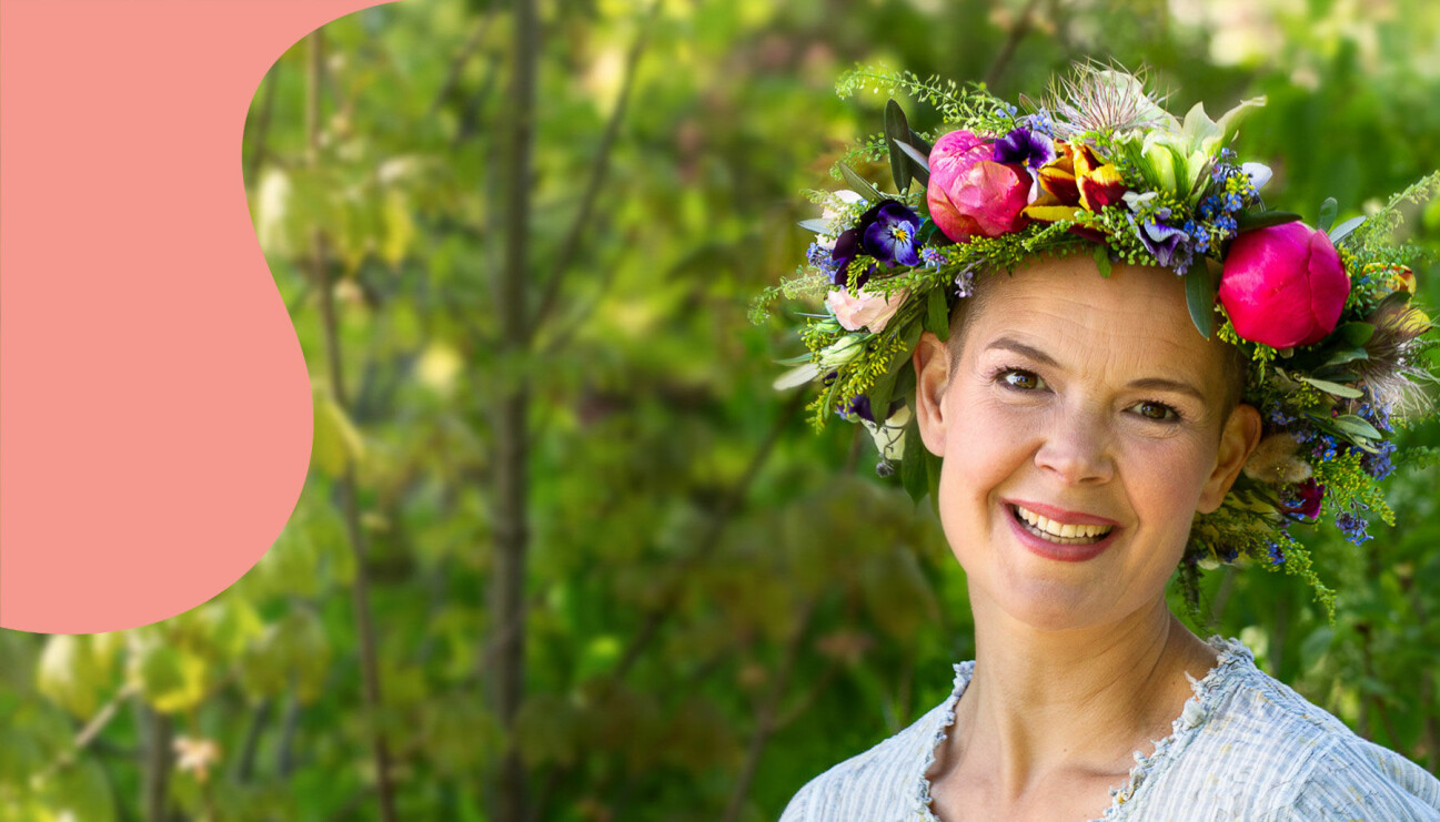 Sara Bäckmo på presentationen av årets sommarpratare i P1