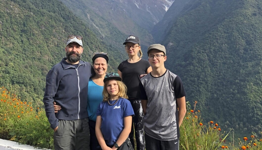 Familj i Nepal.