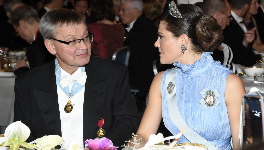 Kronprinsessan Victoria på nobelfesten 2017