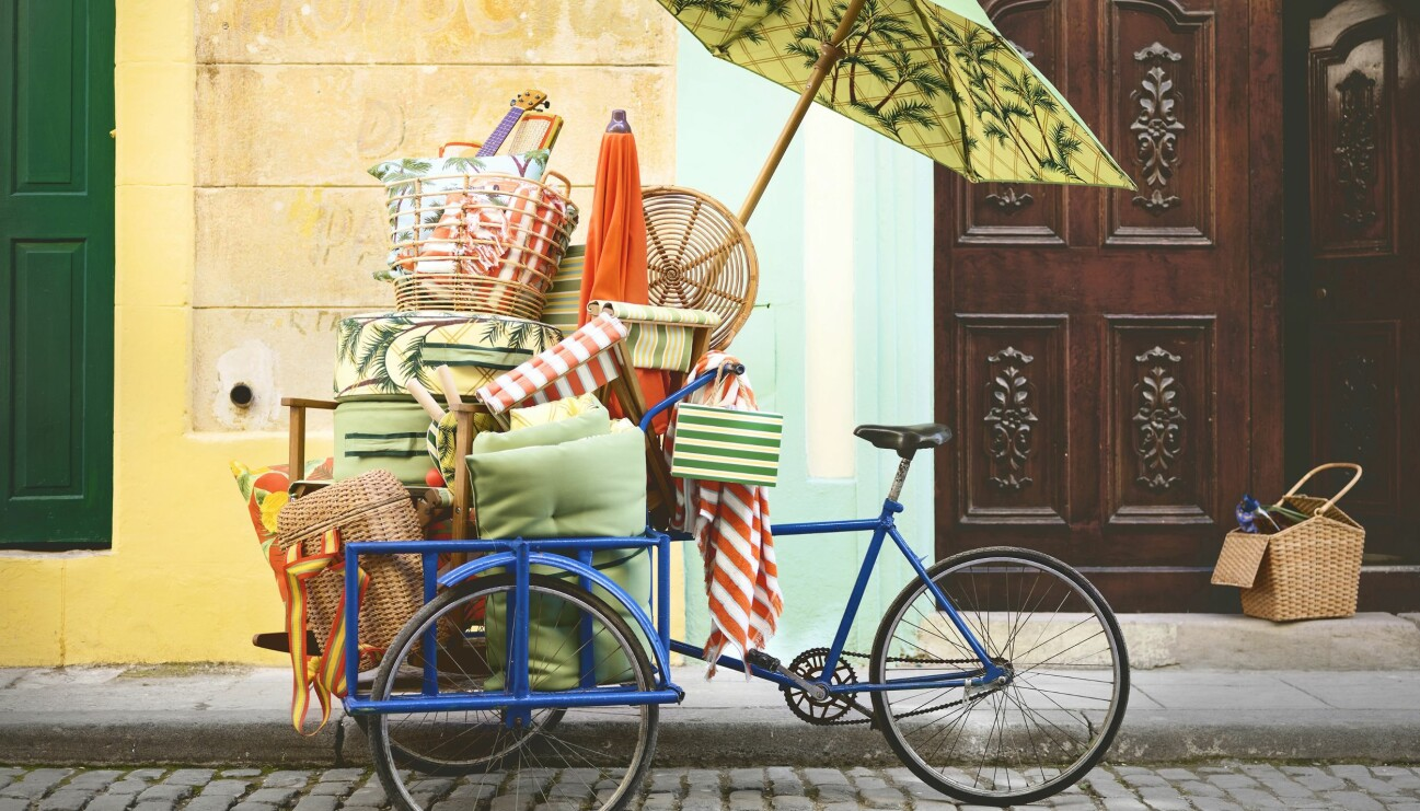 Picknickprylar på en cykel, Ikea Sommar 2020