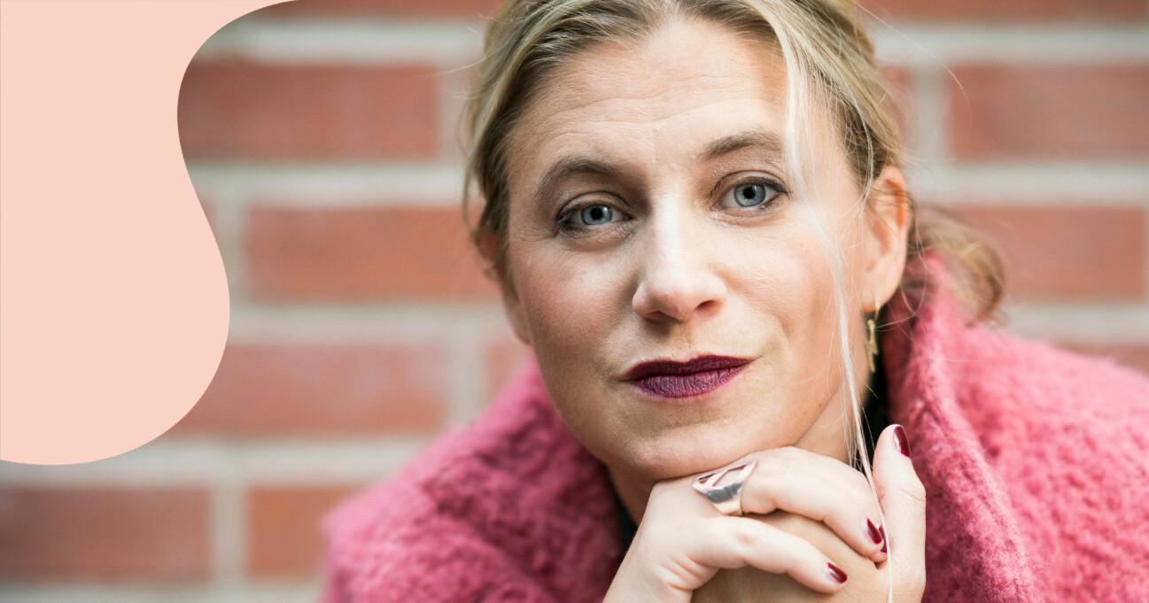 Författaren Lina Schollin Ask som har skrivit en bok om sin dotters död.
