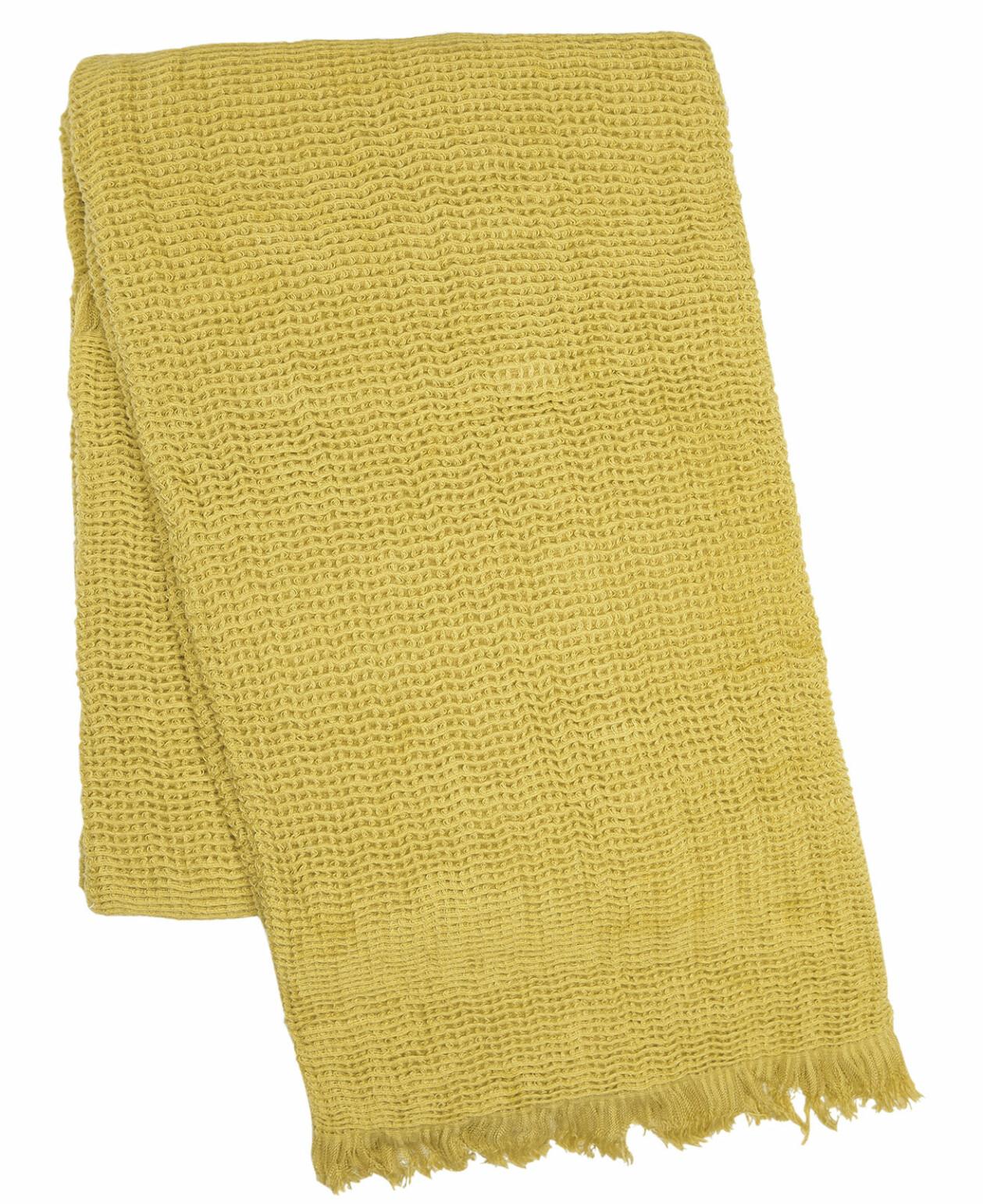 Våfflad pläd i gult, från Cellbes