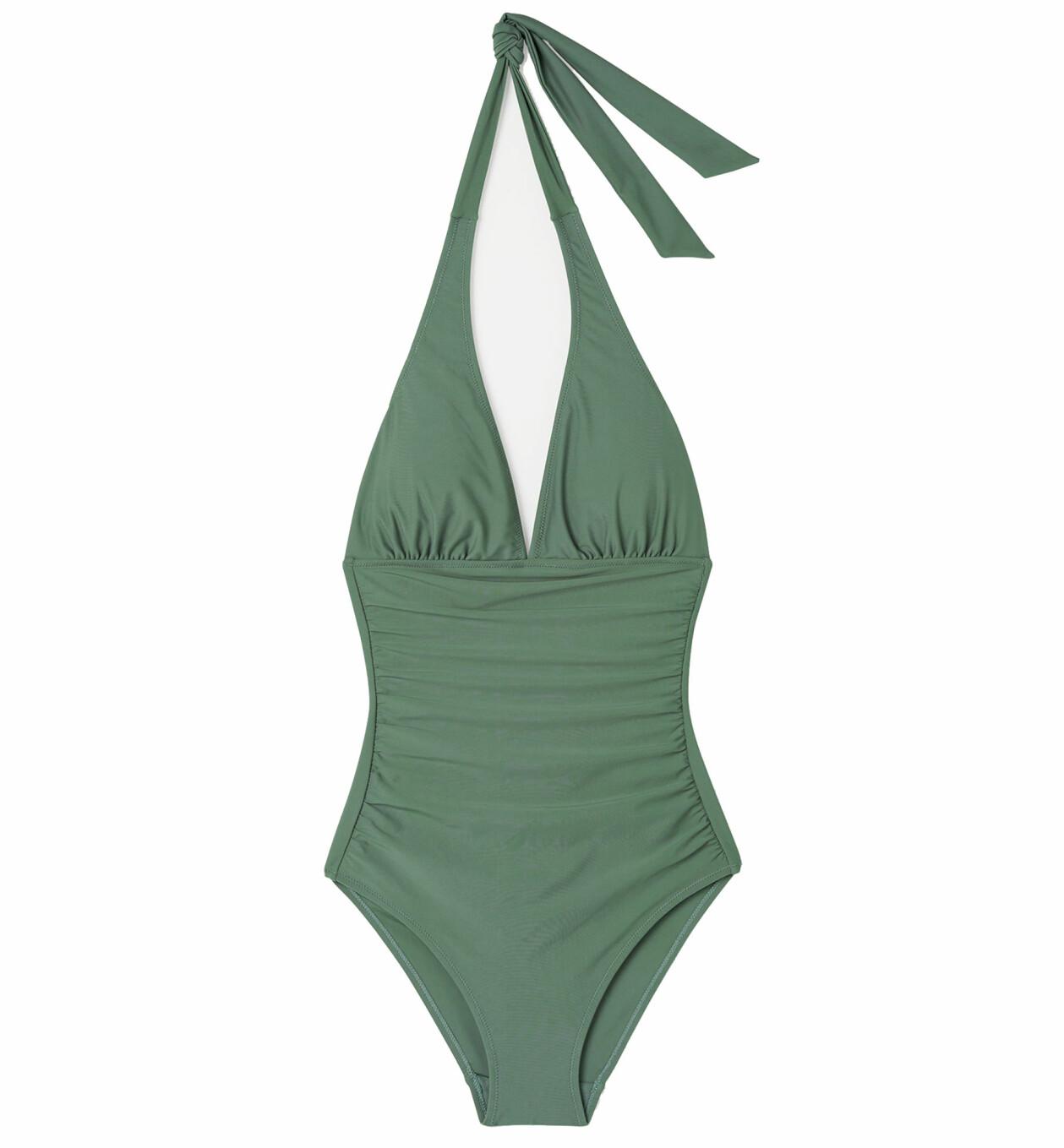 Grön baddräkt med halterneck, från Åhléns